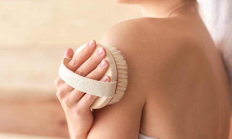 Efekty szczotkowania na sucho - gładka skóra