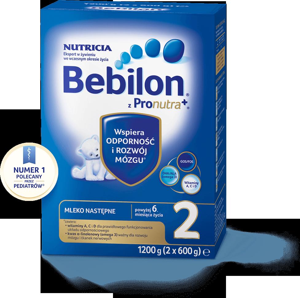 BEBILON 2 Z PRONUTRA+ Mleko modyfikowane w proszku - 1200 g + Bepanthen - 30 g  - Apteka internetowa Melissa