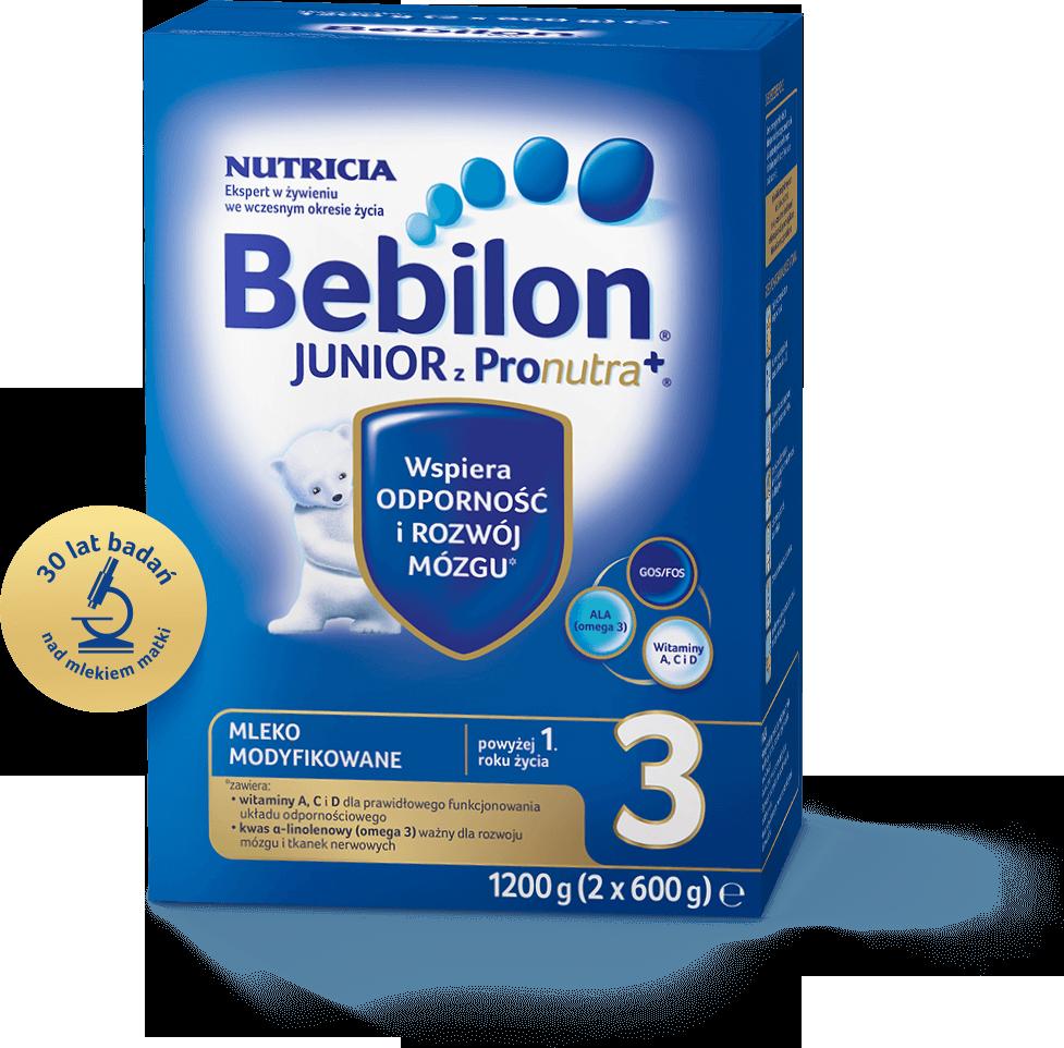BEBILON 3 JUNIOR Z PRONUTRA+ Mleko modyfikowane w proszku - 1200 g + Bepanthen - 30 g - Apteka internetowa Melissa