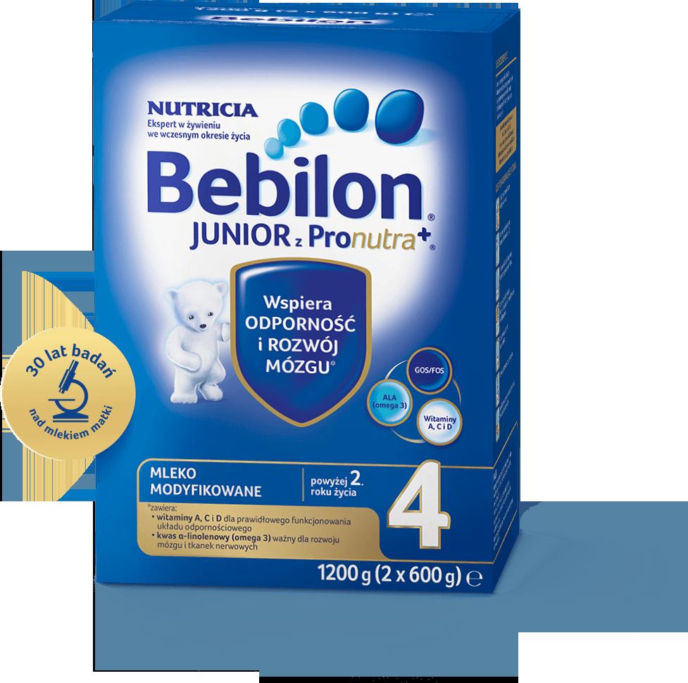 BEBILON 4 JUNIOR Z PRONUTRA+ Mleko modyfikowane w proszku - 1200 g + Bepanthen - 30 g - Apteka internetowa Melissa