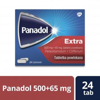 PANADOL EXTRA Lek przeciwbólowy - 24 tabl. - obrazek 1 - Apteka internetowa Melissa