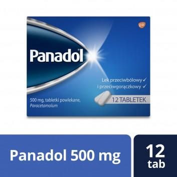 PANADOL Lek przecwibólowy - 12 tabl. - obrazek 1 - Apteka internetowa Melissa