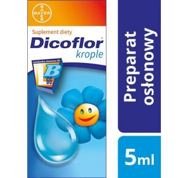 DICOFLOR Krople - 5 ml - probiotyk dla dzieci i niemowląt - cena, opinie, dawkowanie - obrazek 1 - Apteka internetowa Melissa