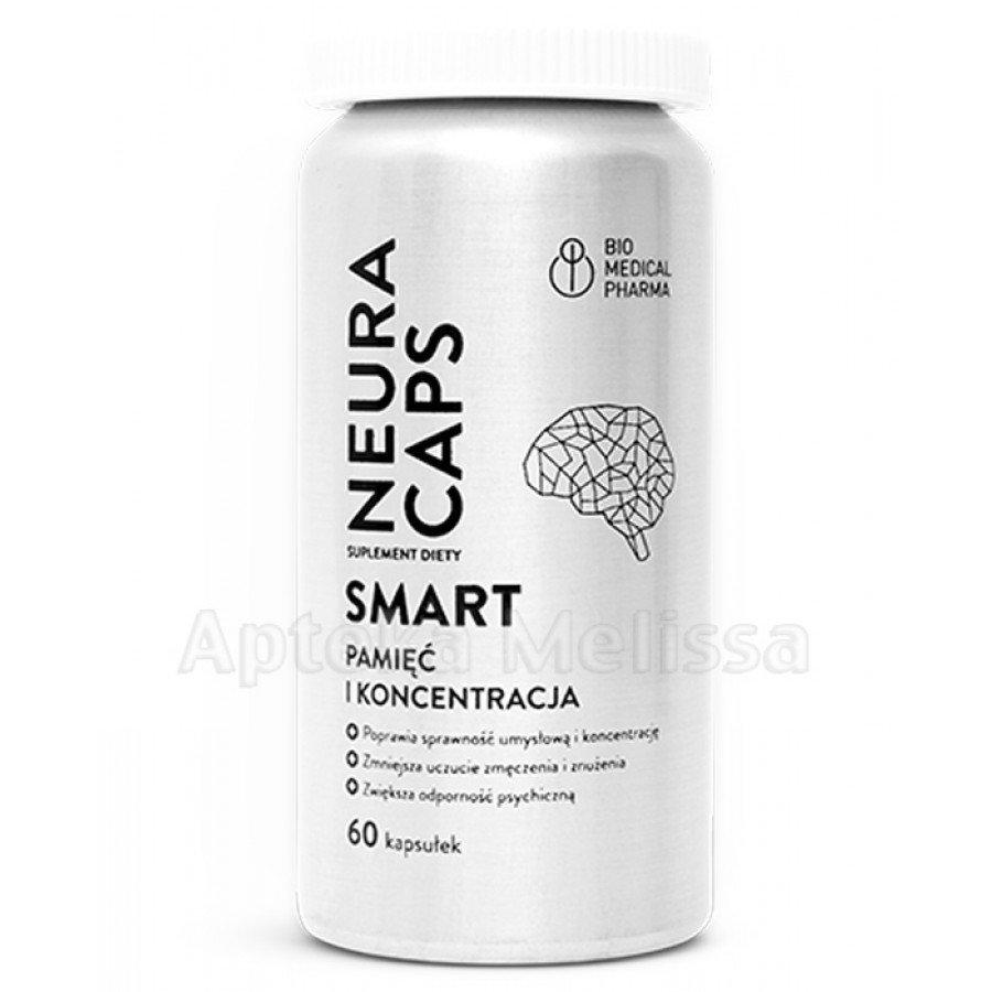NEURACAPS SMART - 60 kaps. Na pamięć i koncentracje.  - obrazek 2 - Apteka internetowa Melissa