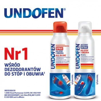 UNDOFEN Antygrzybiczy spray do stóp i obuwia All in One - 150 ml - obrazek 2 - Apteka internetowa Melissa