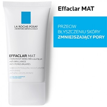 LA ROCHE-POSAY EFFACLAR MAT Seboregulujący krem przeciw błyszczeniu skóry - 40 ml + LA ROCHE-POSAY EFFACLAR ŻEL 50 ml - obrazek 4 - Apteka internetowa Melissa