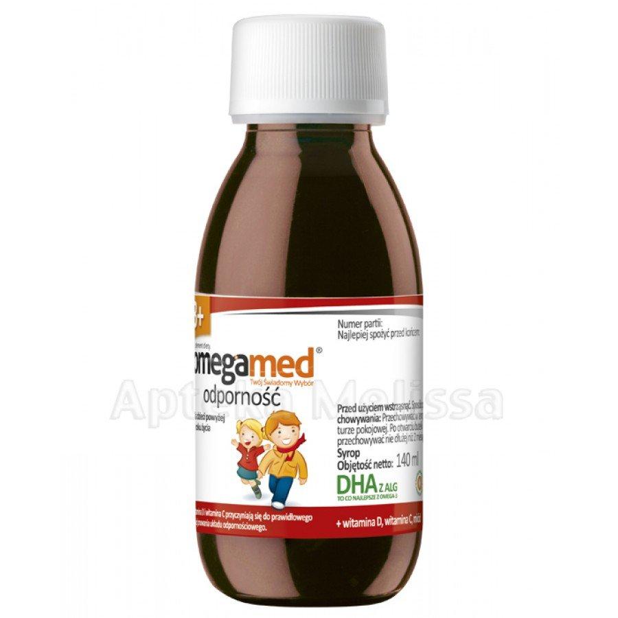 OMEGAMED ODPORNOŚĆ 3+ Syrop o smaku pomarańczowym - 140 ml - Apteka internetowa Melissa