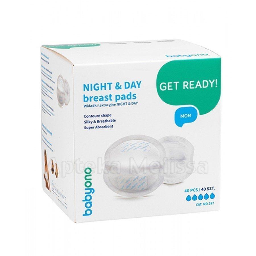 BABYONO Wkładki laktacyjne NIGHT&DAY - 40 szt. - obrazek 1 - Apteka internetowa Melissa