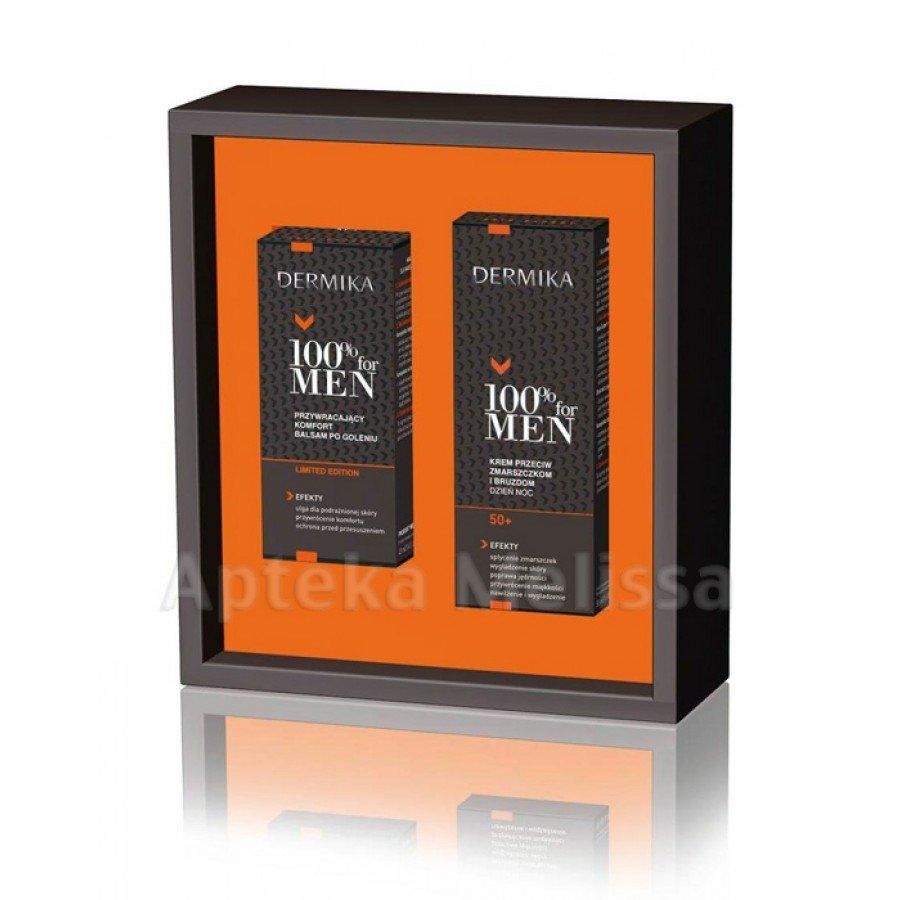 DERMIKA ZESTAW MEN - Krem przeciwzmarszczkowy 50 ml + Balsam po goleniu - 40 ml - obrazek 2 - Apteka internetowa Melissa