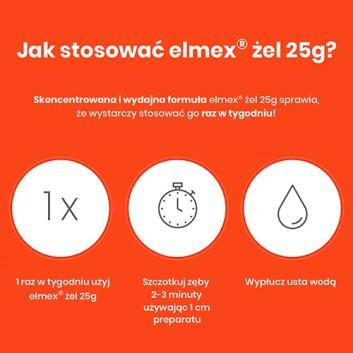 ELMEX Żel do fluoryzacji z aminofluorkiem - 25 g - obrazek 5 - Apteka internetowa Melissa