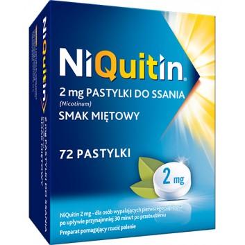 NIQUITIN Pastylki do ssania na rzucanie palenia o smaku miętowym 2 mg - 72 szt. - obrazek 1 - Apteka internetowa Melissa
