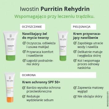 IWOSTIN PURRITIN REHYDRIN Żel nawilżający do mycia twarzy - 150 ml - obrazek 5 - Apteka internetowa Melissa