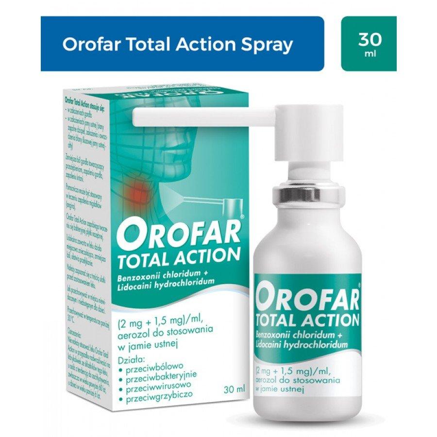 OROFAR TOTAL ACTION Aerozol na gardło - 30 ml - obrazek 1 - Apteka internetowa Melissa