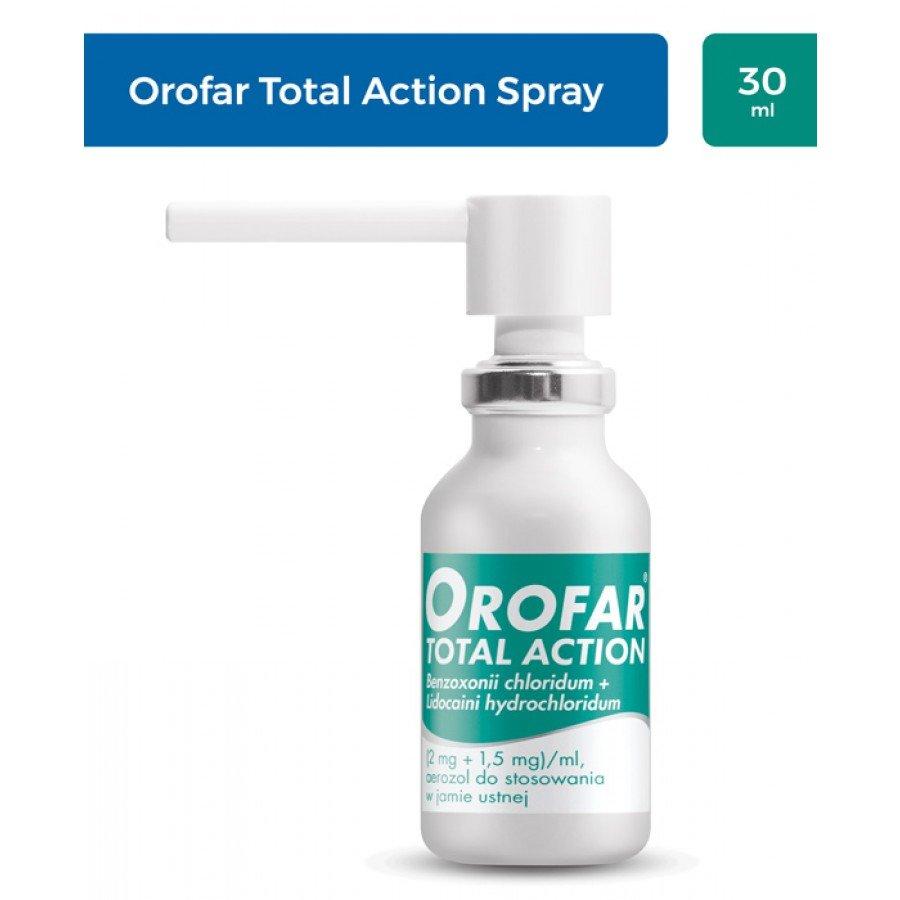 OROFAR TOTAL ACTION Aerozol na gardło - 30 ml - obrazek 2 - Apteka internetowa Melissa