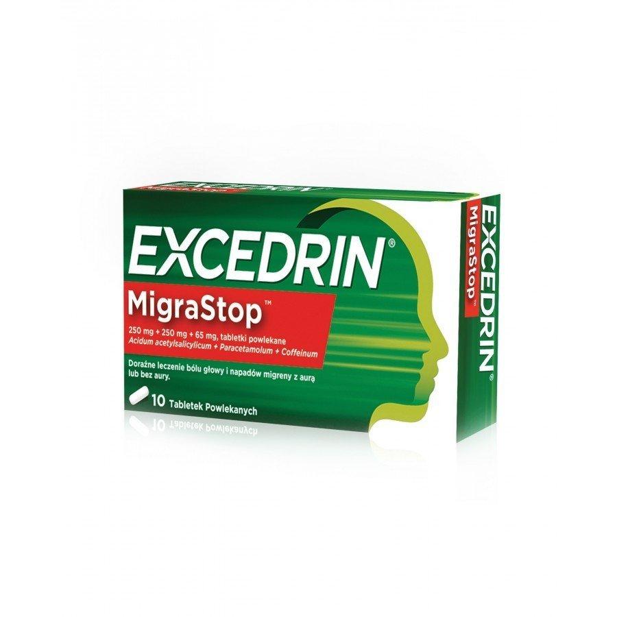 EXCEDRIN MIGRASTOP - 10 tabl. przeciwbólowych - obrazek 1 - Apteka internetowa Melissa