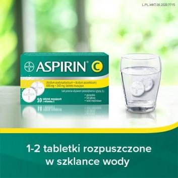 ASPIRIN C - 10 tabl. mus. - obrazek 2 - Apteka internetowa Melissa