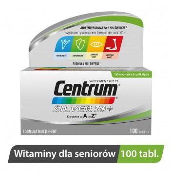 CENTRUM Silver 50+ Formuła Multiefekt - 100 tabl. - obrazek 2 - Apteka internetowa Melissa