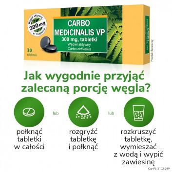 CARBO MEDICINALIS Węgiel leczniczy - 20 tabl. - obrazek 4 - Apteka internetowa Melissa