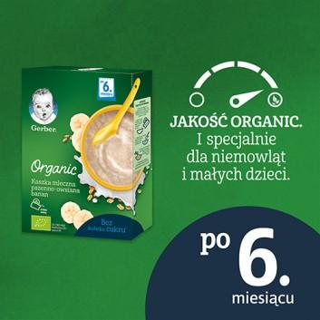 GERBER ORGANIC Kaszka mleczna pszenno-owsiana bananowa, po 6. miesiącu - 240 g - obrazek 3 - Apteka internetowa Melissa