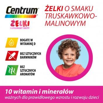 CENTRUM Żelki o smaku truskawkowo-malinowym - 30 szt - obrazek 3 - Apteka internetowa Melissa