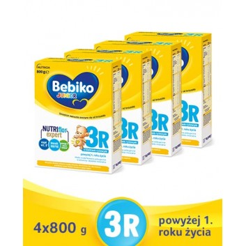 BEBIKO 3R JUNIOR Mleko modyfikowane następne dla niemowląt - 4x800 g - cena, opinie, właściwości  - obrazek 1 - Apteka internetowa Melissa