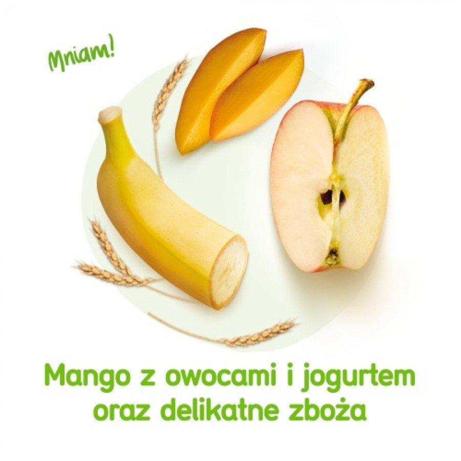 BOBOVITA MUS Mango z owocami i jogurtem oraz delikatne zboża po 10 m-cu - 80 g - obrazek 3 - Apteka internetowa Melissa