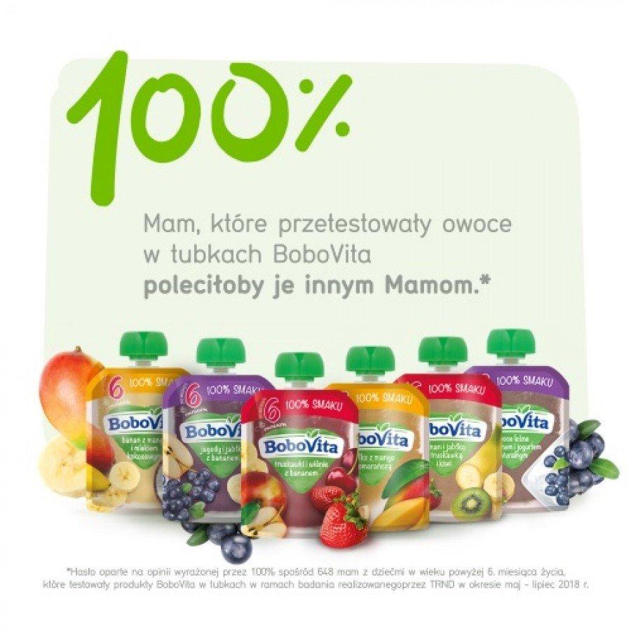 BOBOVITA MUS Mango z owocami i jogurtem oraz delikatne zboża po 10 m-cu - 80 g - obrazek 6 - Apteka internetowa Melissa