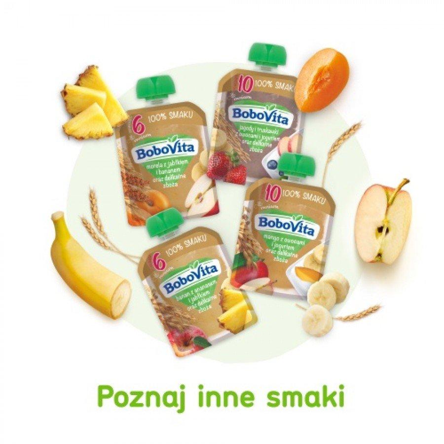 BOBOVITA MUS Mango z owocami i jogurtem oraz delikatne zboża po 10 m-cu - 80 g - obrazek 7 - Apteka internetowa Melissa
