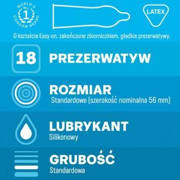 DUREX CLASSIC Prezerwatywy - 18 szt. - cena, opinie, właściwości - obrazek 2 - Apteka internetowa Melissa