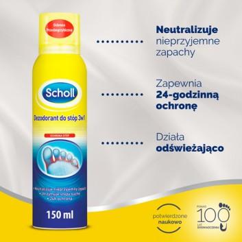 SCHOLL Dezodorant do stóp 3w1 - 150 ml - obrazek 2 - Apteka internetowa Melissa