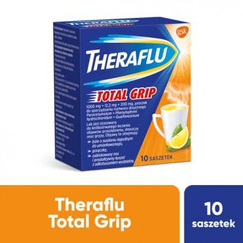 THERAFLU TOTAL GRIP Lek na objawy przeziębienia i grypy - 10 sasz. Data ważności 2021.10.31 - obrazek 1 - Apteka internetowa Melissa