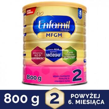 ENFAMIL 2 PREMIUM MFGM 6-12 mcy Mleko modyfikowane w proszku - 800 g - cena, opinie, właściwości - obrazek 1 - Apteka internetowa Melissa