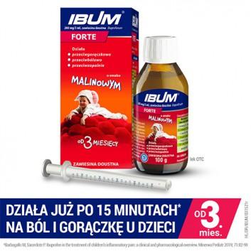 IBUM FORTE Zawiesina o smaku malinowym 200 mg / 5 ml - 100 ml - cena, opinie dawkowanie - obrazek 2 - Apteka internetowa Melissa