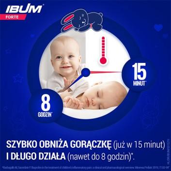 IBUM FORTE Zawiesina o smaku malinowym 200 mg / 5 ml - 100 ml - cena, opinie dawkowanie - obrazek 3 - Apteka internetowa Melissa