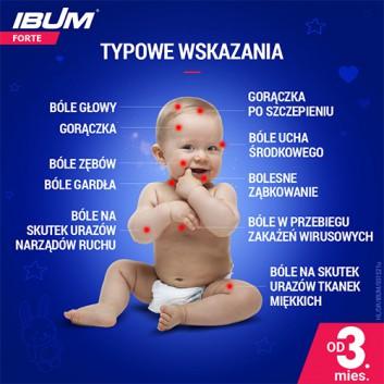 IBUM FORTE Zawiesina o smaku malinowym 200 mg / 5 ml - 100 ml - cena, opinie dawkowanie - obrazek 4 - Apteka internetowa Melissa