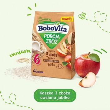 BOBOVITA PORCJA ZBÓŻ Kaszka mleczna owsiana 3 zboża, jabłko, po 6 miesiącu - 210 g - cena, właściwości, opinie  - obrazek 3 - Apteka internetowa Melissa