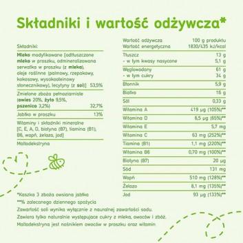 BOBOVITA PORCJA ZBÓŻ Kaszka mleczna owsiana 3 zboża, jabłko, po 6 miesiącu - 210 g - cena, właściwości, opinie  - obrazek 6 - Apteka internetowa Melissa
