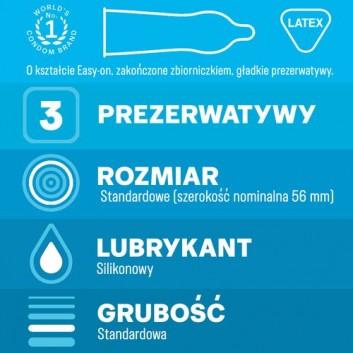 DUREX CLASSIC Prezerwatywy - 3 szt. - cena, opinie, właściwości - obrazek 3 - Apteka internetowa Melissa