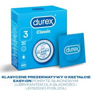 DUREX CLASSIC Prezerwatywy - 3 szt. - cena, opinie, właściwości - obrazek 4 - Apteka internetowa Melissa