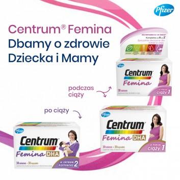 CENTRUM FEMINA DHA W trakcie ciąży 1- 30 tabl. + 30 kaps. - cena, opinie, właściwości - obrazek 5 - Apteka internetowa Melissa