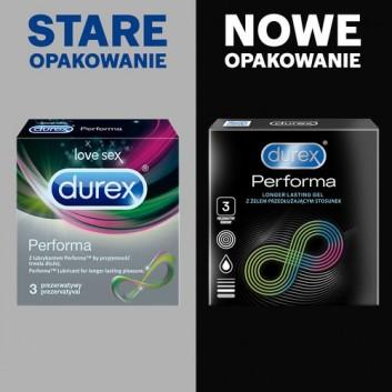 DUREX PERFORMA Prezerwatywy z substancją przedłużającą stosunek - 3 szt. - obrazek 2 - Apteka internetowa Melissa