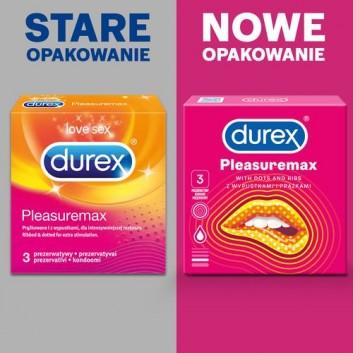 DUREX PLEASUREMAX Prezerwatywy prążkowane z wypustkami - 3 szt. - obrazek 3 - Apteka internetowa Melissa