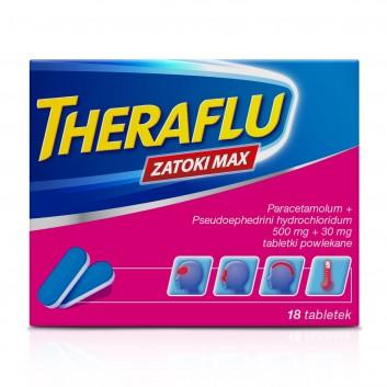 THERAFLU ZATOKI MAX - 18 tabl. - zwalcza objawy grypy i przeziębienia Data ważności 2021.06.30 - obrazek 2 - Apteka internetowa Melissa