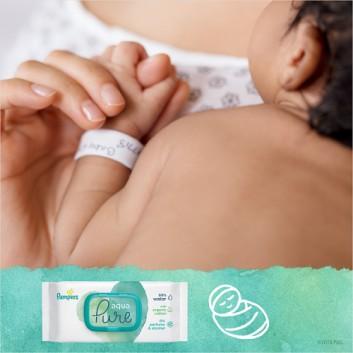 Pampers chusteczki nawilżane Aqua Pure 48 sztuk chusteczek - cena, opinie, wskazania - obrazek 9 - Apteka internetowa Melissa
