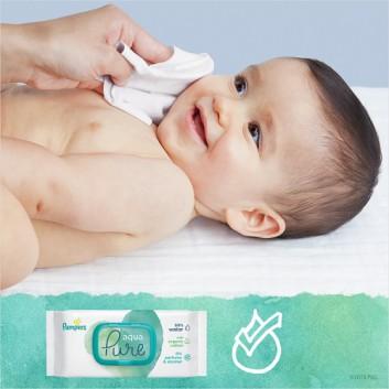 Pampers chusteczki nawilżane Aqua Pure 48 sztuk chusteczek - cena, opinie, wskazania - obrazek 8 - Apteka internetowa Melissa