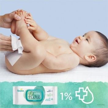 Pampers chusteczki nawilżane Aqua Pure 48 sztuk chusteczek - cena, opinie, wskazania - obrazek 7 - Apteka internetowa Melissa