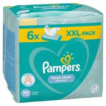 PAMPERS Fresh Clean Chusteczki nawilżane dla niemowląt - 6 op., 480 szt. - cena, opinie, właściwości - obrazek 3 - Apteka internetowa Melissa