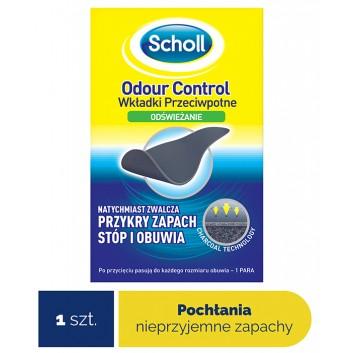 SCHOLL ODOUR CONTROL Wkładki przeciwpotne - 1szt.  Usuwanie przykrego zapachu stóp i obuwia - cena, opinie, używanie  - obrazek 1 - Apteka internetowa Melissa