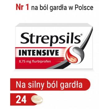 Strepsils Intensive na ostry ból gardła, przeciwzapalny, 24 tabletki do ssania - cena, opinie, właściwości  - obrazek 1 - Apteka internetowa Melissa