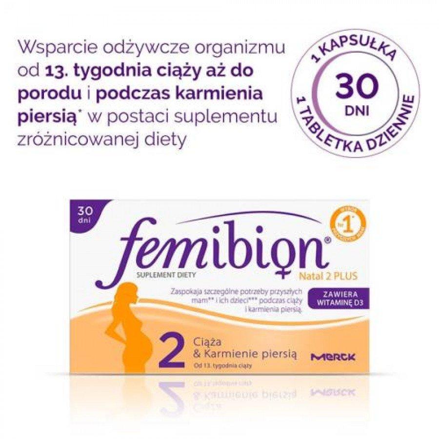 FEMIBION NATAL 2 PLUS - 30 tabl. + 30 kaps. - obrazek 2 - Apteka internetowa Melissa